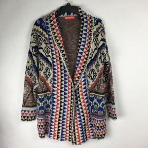 Lulumari Tribal Knit Sweater Cardigan Size S/M